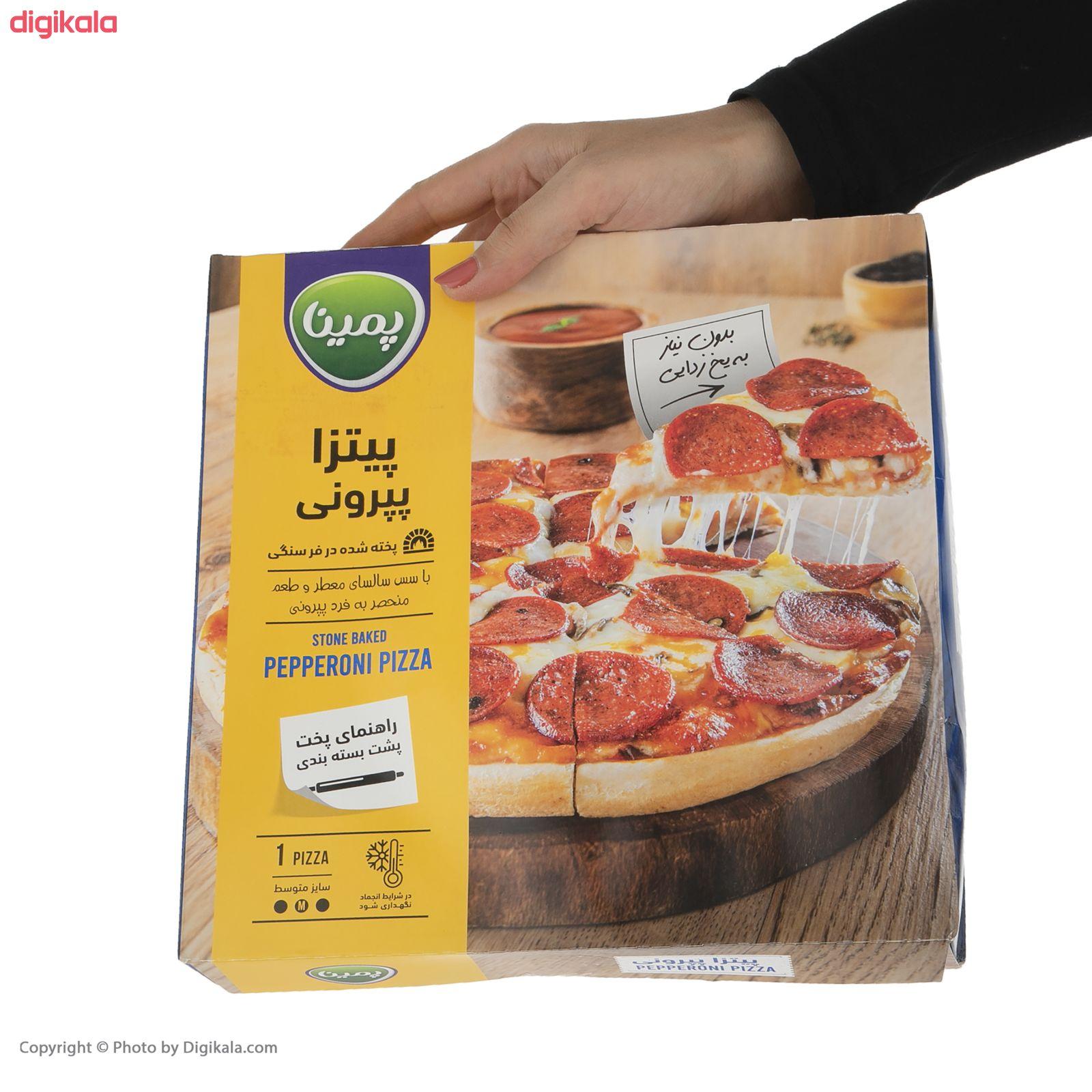پیتزا پپرونی پمینا کاله مقدار 440  گرم main 1 3