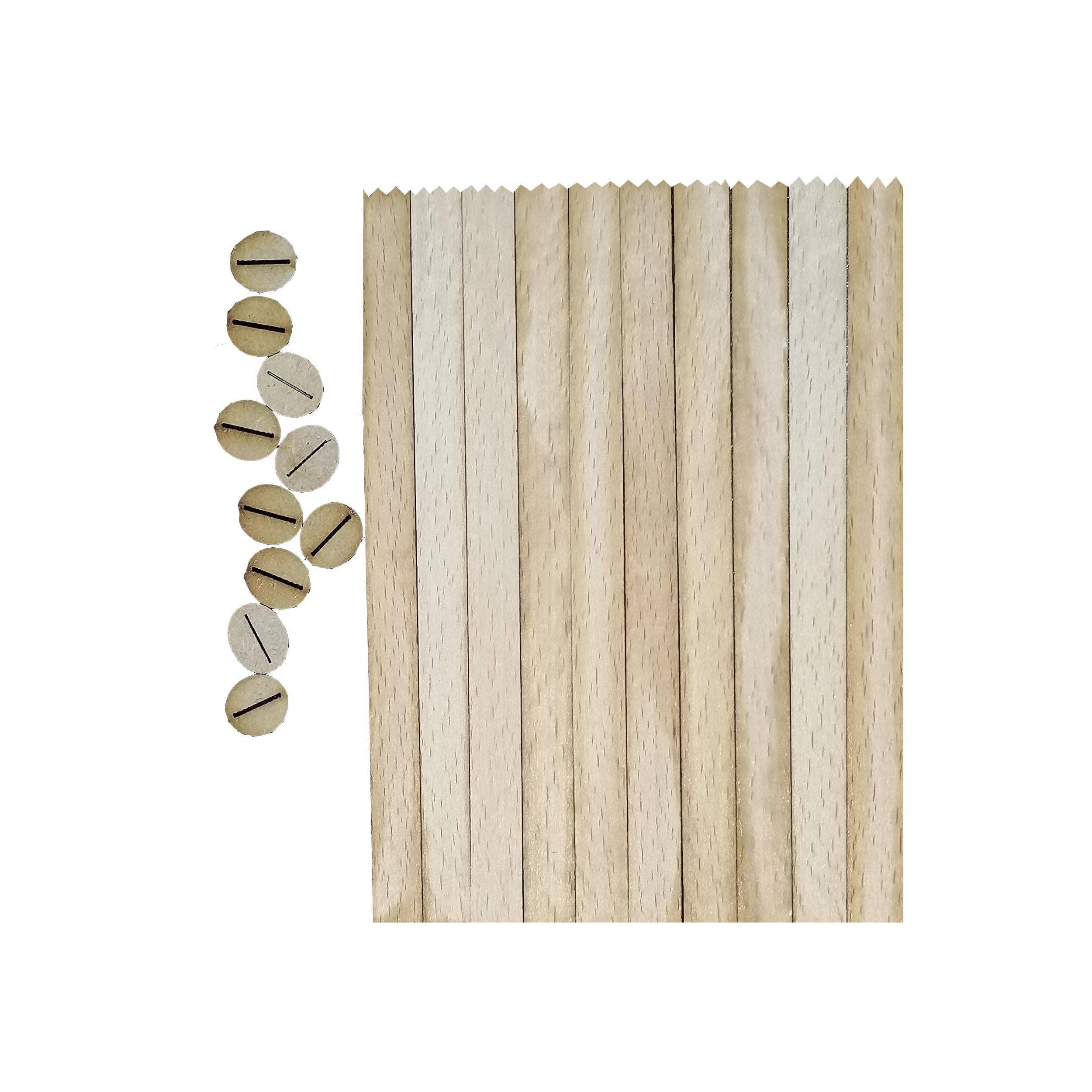 خرید                                      فیتیله چوبی شمع مدل F01 بسته 10 عددی
