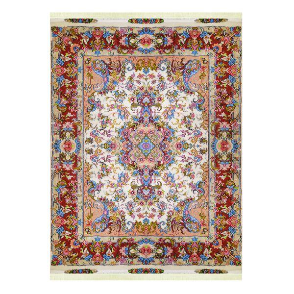 فرش دستباف سه متری مدل لچک ترنج کد 6008