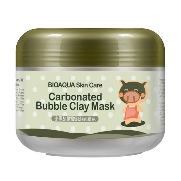 ماسک صورت بایو آکوا مدل Carbonated Bubble Clay حجم 100 میلی لیتر