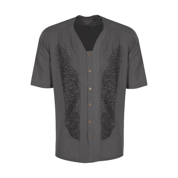 پیراهن مردانه تن درست مدل 180-GREY
