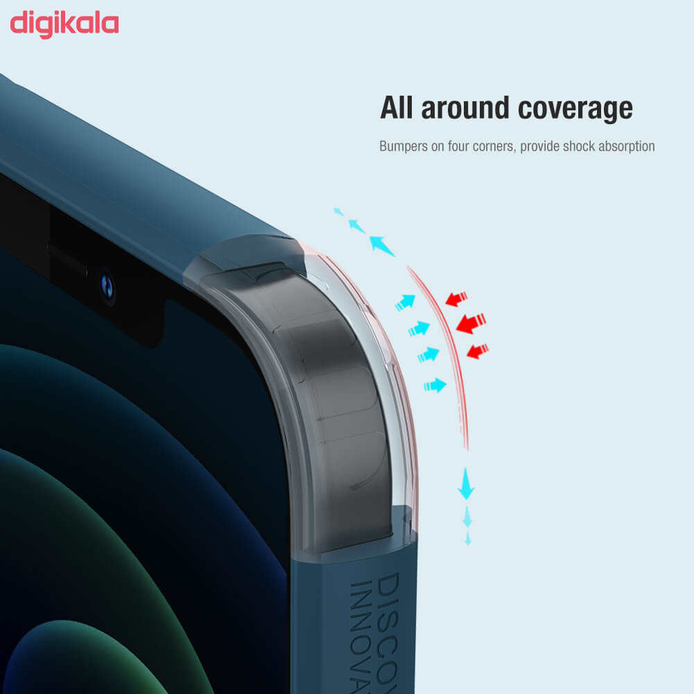کاور نیلکین مدل  Frosted Shield Pro مناسب برای گوشی موبایل اپل Iphone 12 main 1 2