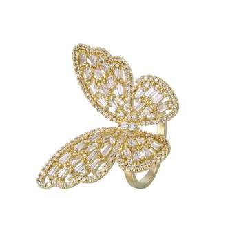 انگشتر زنانه مدل پروانه کد R3005