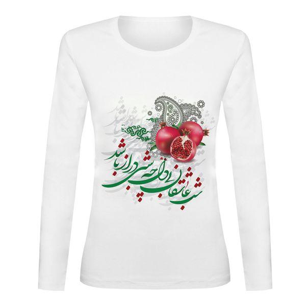 تی شرت آستین بلند زنانه مدل یلدا کد TAB02-9