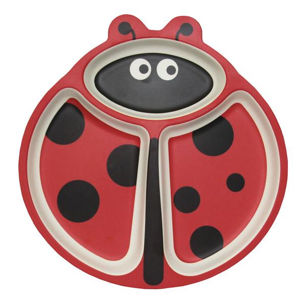 ظرف غذای کودک بامبو فایبر طرح Cute ladybird