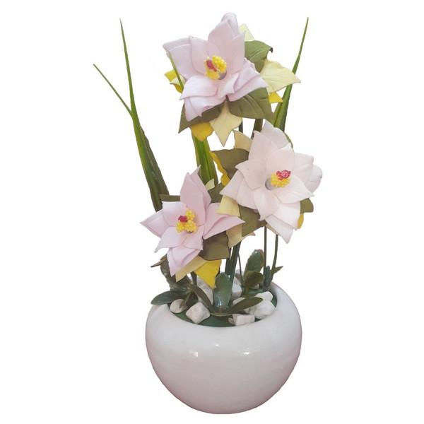 گلدان به همراه گل مصنوعی مدل A771