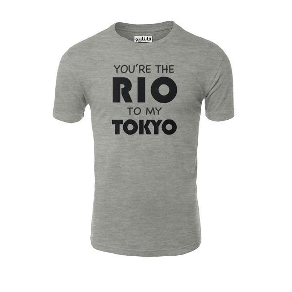 تیشرت آستین کوتاه مردانه فانتازیو مدل 121 طرح Rio To My Tokio کد LCDP005