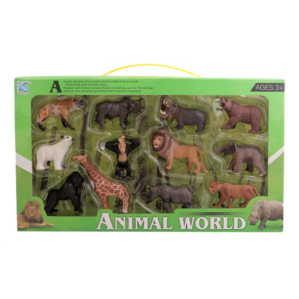فیگورمدل حیوانات بسته 12 عددی