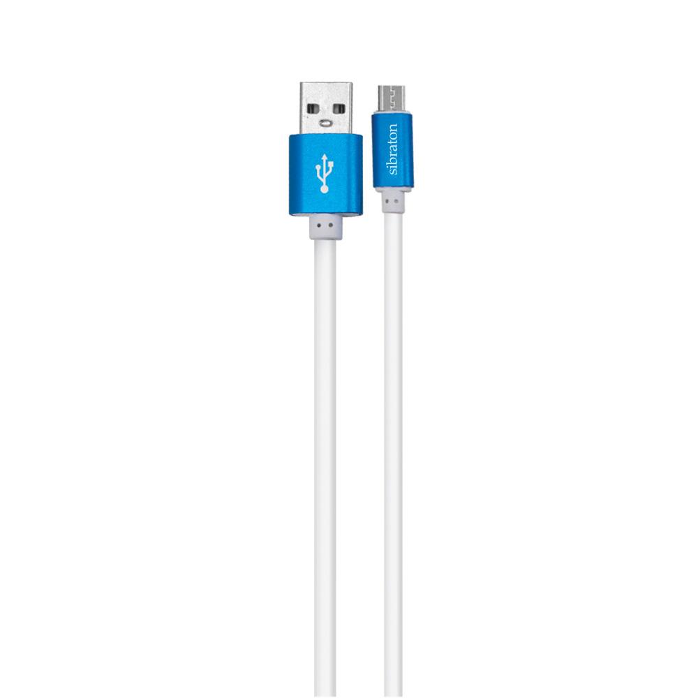 کابل تبدیل USB به microUSB سیبراتون مدل S321 A طول 2 متر