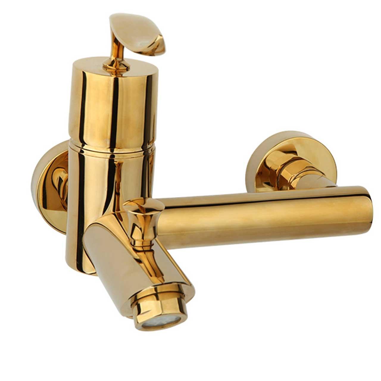 شیر حمام راسان مدل پالادیوم طلایی براق