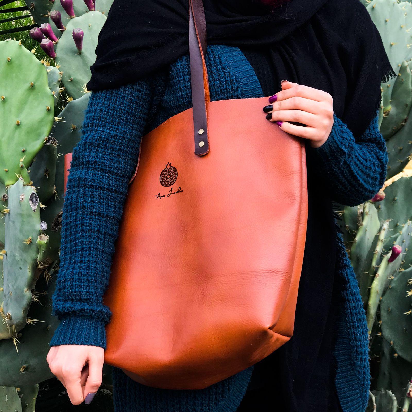 کیف دوشی زنانه انار لدر مدل کارینا -  - 10