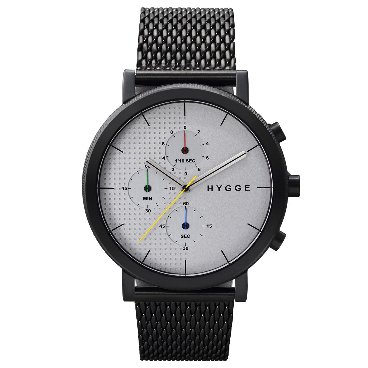 ساعت مچی عقربه ای مردانه هیگه مدل MSM2204BC-CH