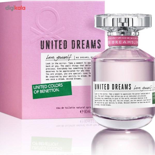 ادو تویلت زنانه بنتون مدل United Dreams Love Yourself حجم 80 میلی لیتر