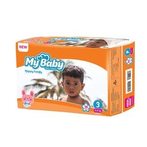 پوشک بچه مای بیبی کد 01 سایز 3 بسته 38 عددی