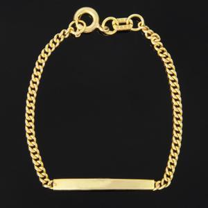 دستبند طلا 18 عیار دخترانه کد 67061