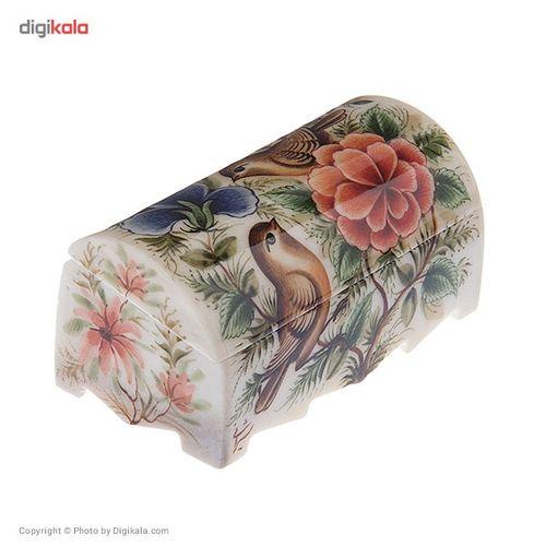 جعبه استخوانی طرح گل و مرغ 3