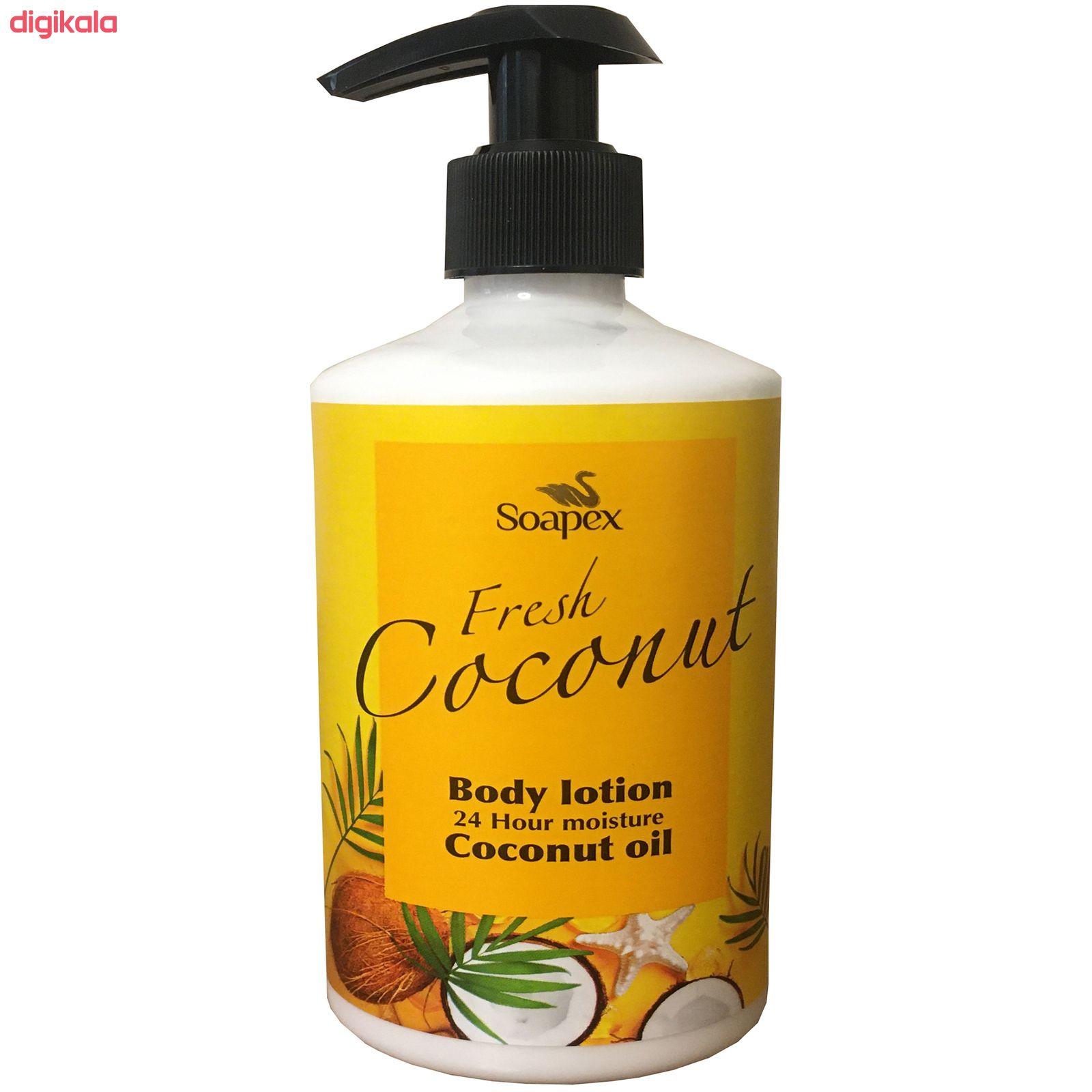 لوسیون بدن سوپکس مدل Coconut oil حجم 350 میلی لیتر main 1 1