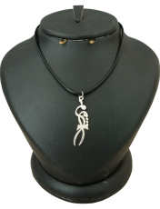 گردنبند نقره زنانه ترمه 1 طرح مریم کد mas 0032 -  - 1