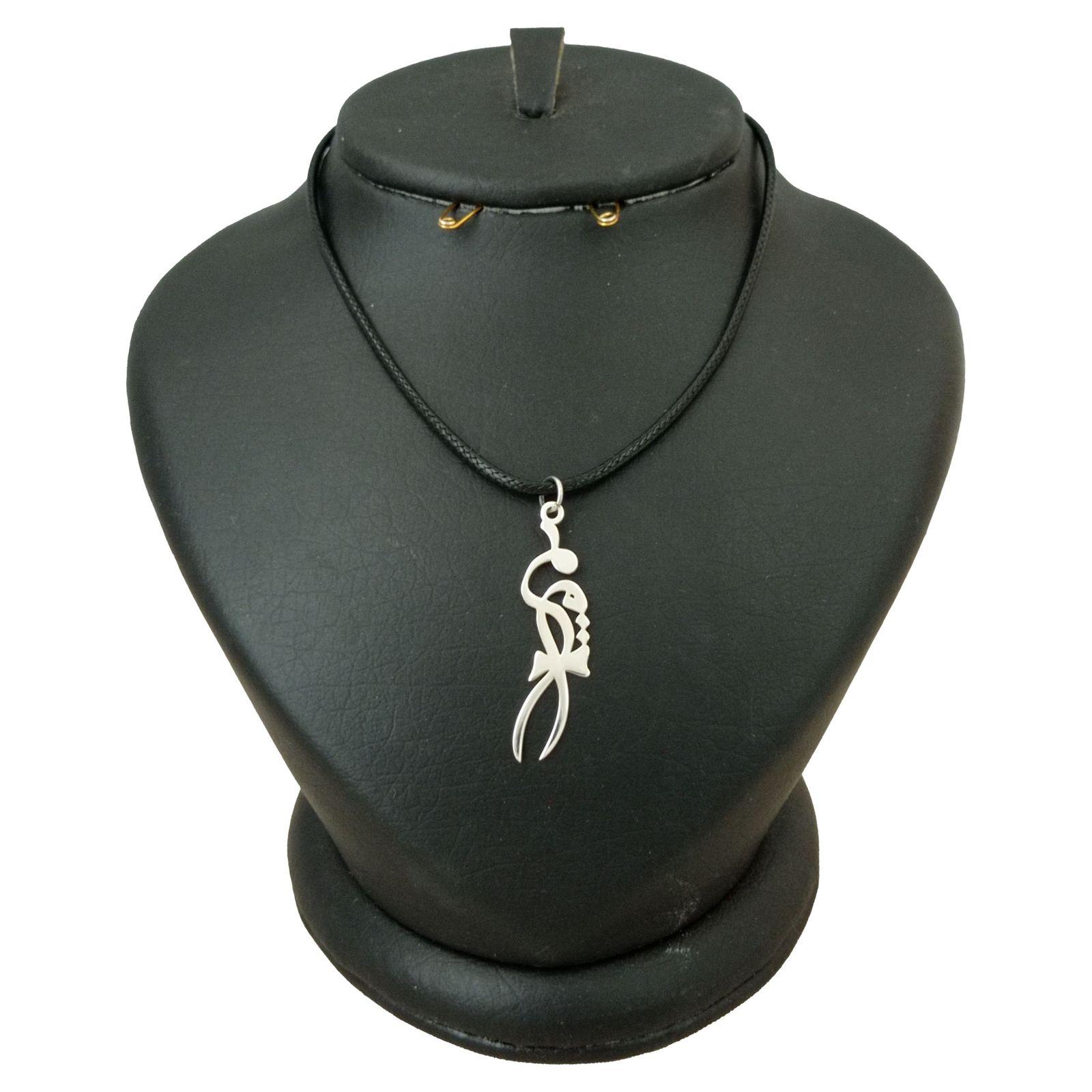 گردنبند نقره زنانه ترمه 1 طرح مریم کد mas 0032 -  - 2