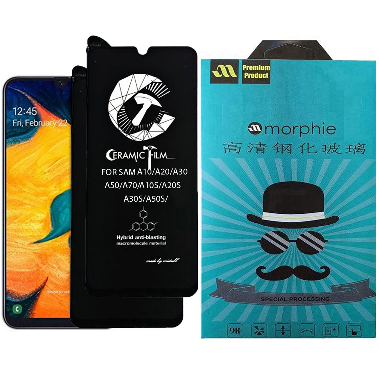 محافظ صفحه نمایش سرامیکی مورفی مدل MEIC_2 مناسب برای گوشی موبایل سامسونگ Galaxy A10 بسته 2 عددی