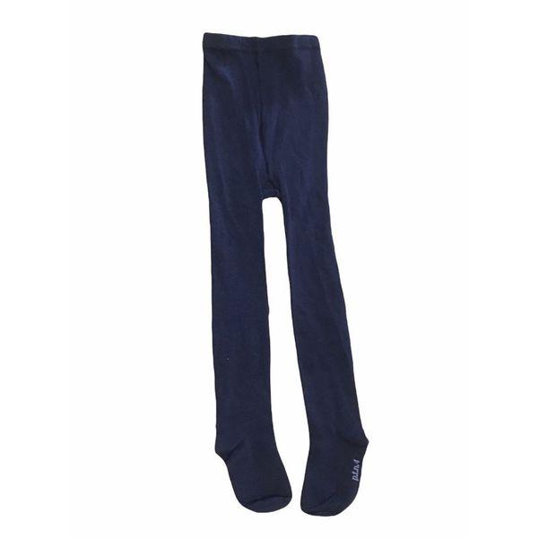 جوراب شلواری دخترانه پاتن مدل ساده رنگ سورمه ای