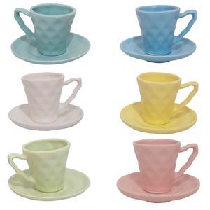 سرویس قهوه خوری 12 پارچه طرح لوزی کد SG12