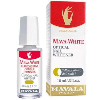 محلول بهبود دهنده رنگ ناخن ماوالا مدل ماوا وایت حجم 10 میلی لیتر