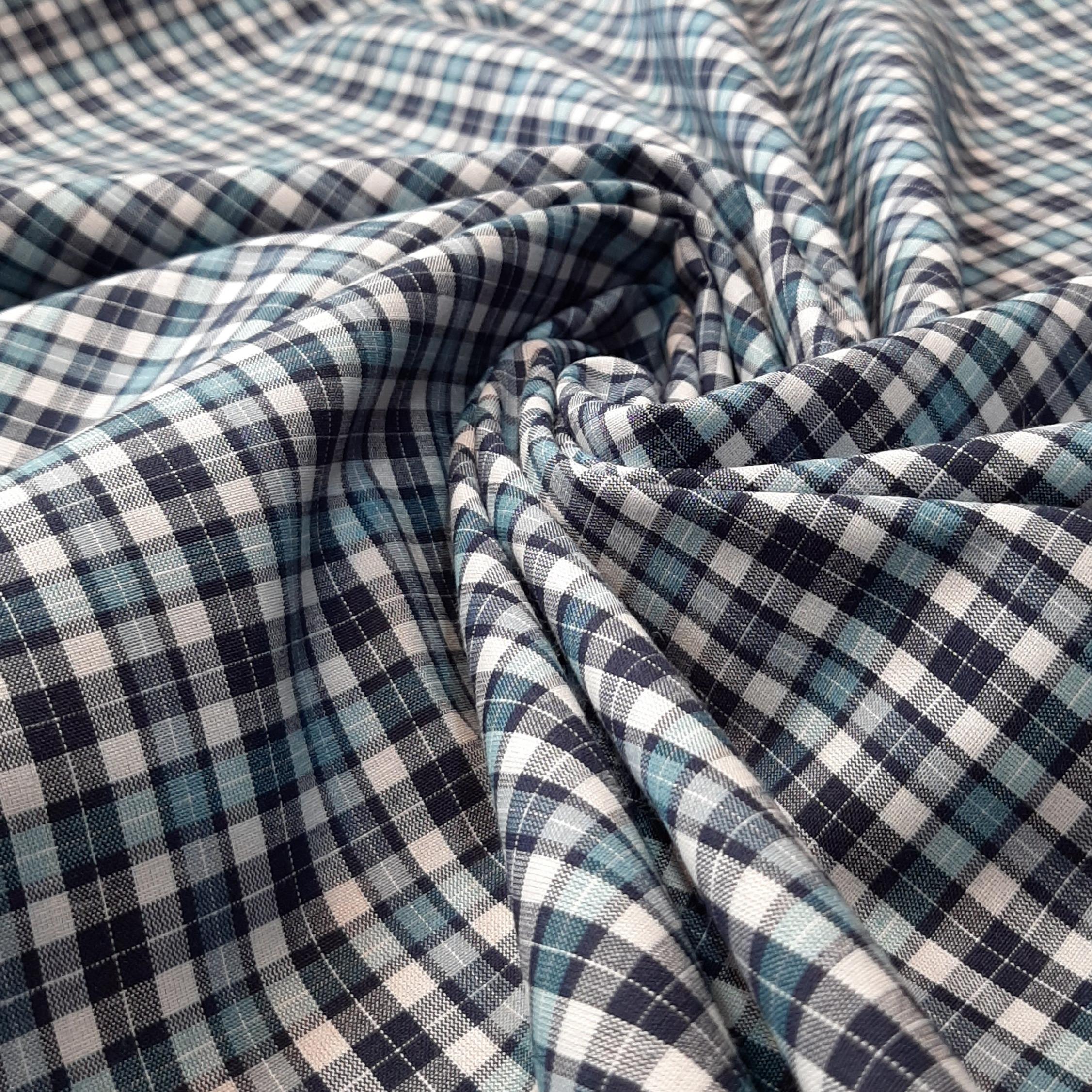 خرید                      پارچه لباس طرح چهارخانه مدل t017