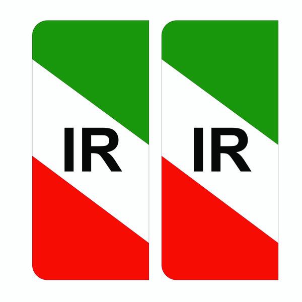 برچسب پلاک خودرو هزاردستان طرح پرچم ایران مدل par100 بسته دوعددی