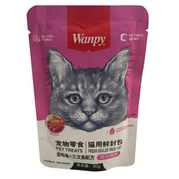 غذای پوچ گربه ونپی مدل 001 وزن 80 گرم