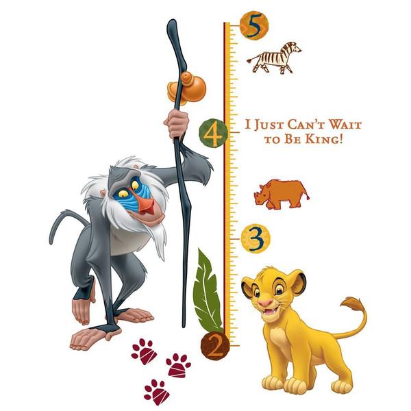 استیکر رومیت مدل The Lion King Rafiki Peel And Stick Giant Growth Chart