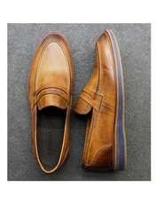کفش روزمره مردانه چرم آرا مدل sh025  -  - 11