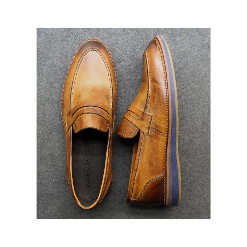 کفش روزمره مردانه چرم آرا مدل sh025  -  - 12