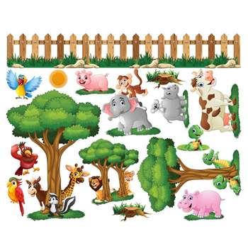 استیکر دیواری ژیوار طرح حیوانات دوست داشتنی