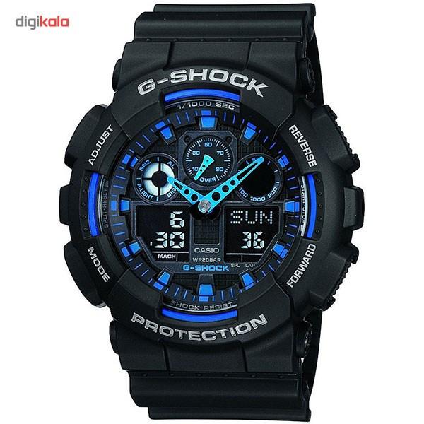 خرید ساعت مچی عقربه ای مردانه کاسیو مدل GA-100-1A2DR | ساعت مچی