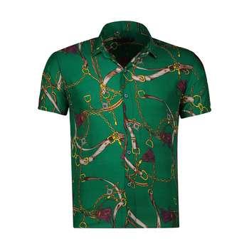 تصویر پیراهن آستین کوتاه مردانه مدل هاوایی کد H-106S