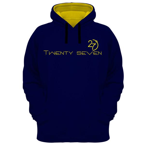 هودی مردانه 27 مدل Twenty Seven کد MR04 رنگ سرمه ای