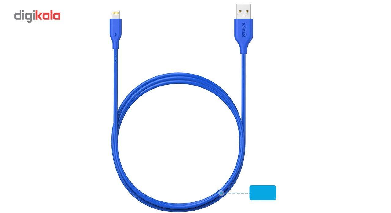 کابل تبدیل USB به لایتنینگ انکر مدل A8434 طول 3 متر main 1 6