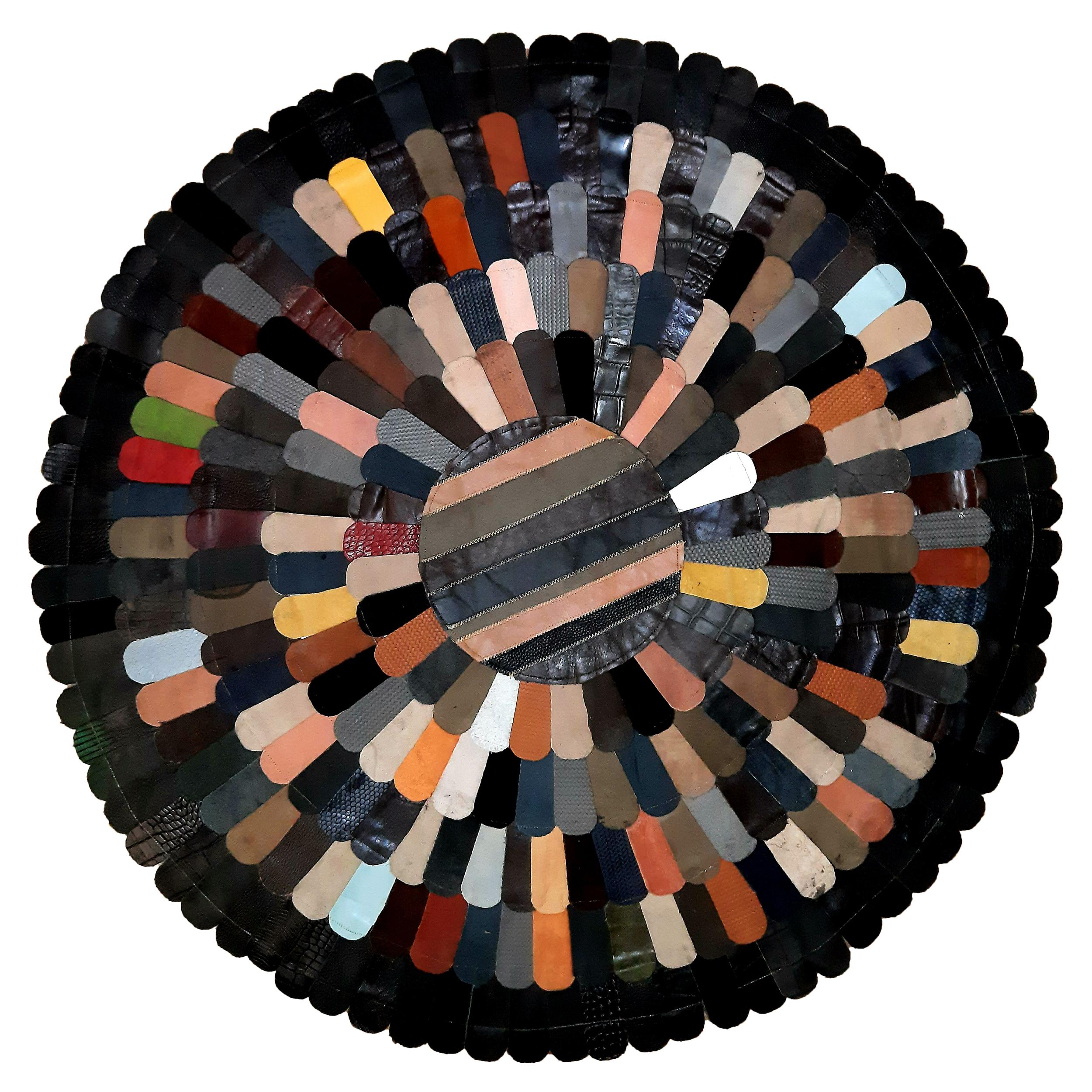 کلاژ فرش پوست و چرم کد 2016