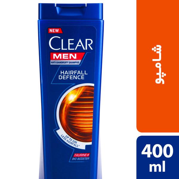 شامپو ضد شوره و ضد ریزش آقایان کلییر مدل Hairfall Defense حجم 400 میلی لیتر