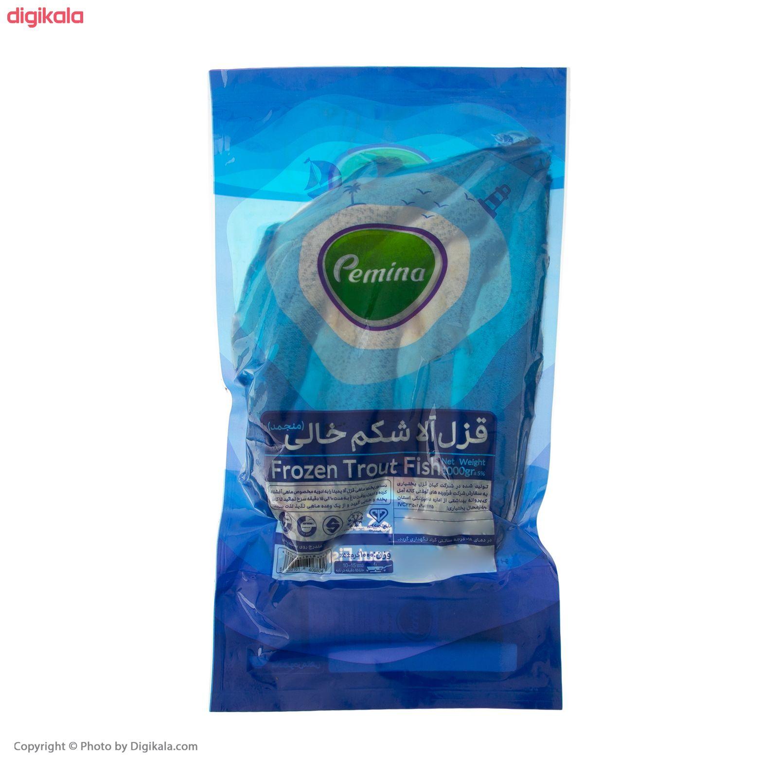 ماهی قزل آلا شکم خالی منجمد پمینا - 1 کیلوگرم  main 1 1