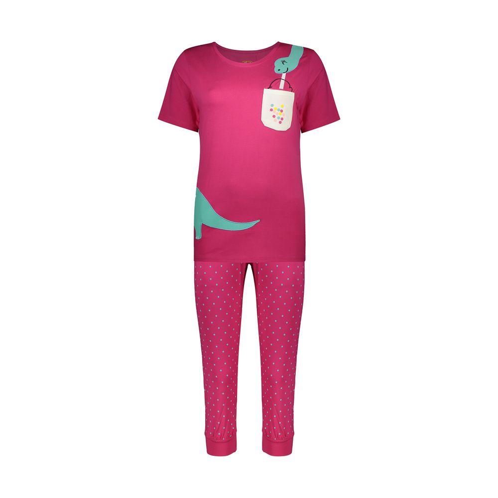 ست تی شرت و شلوارک راحتی زنانه مادر مدل 2041100-66