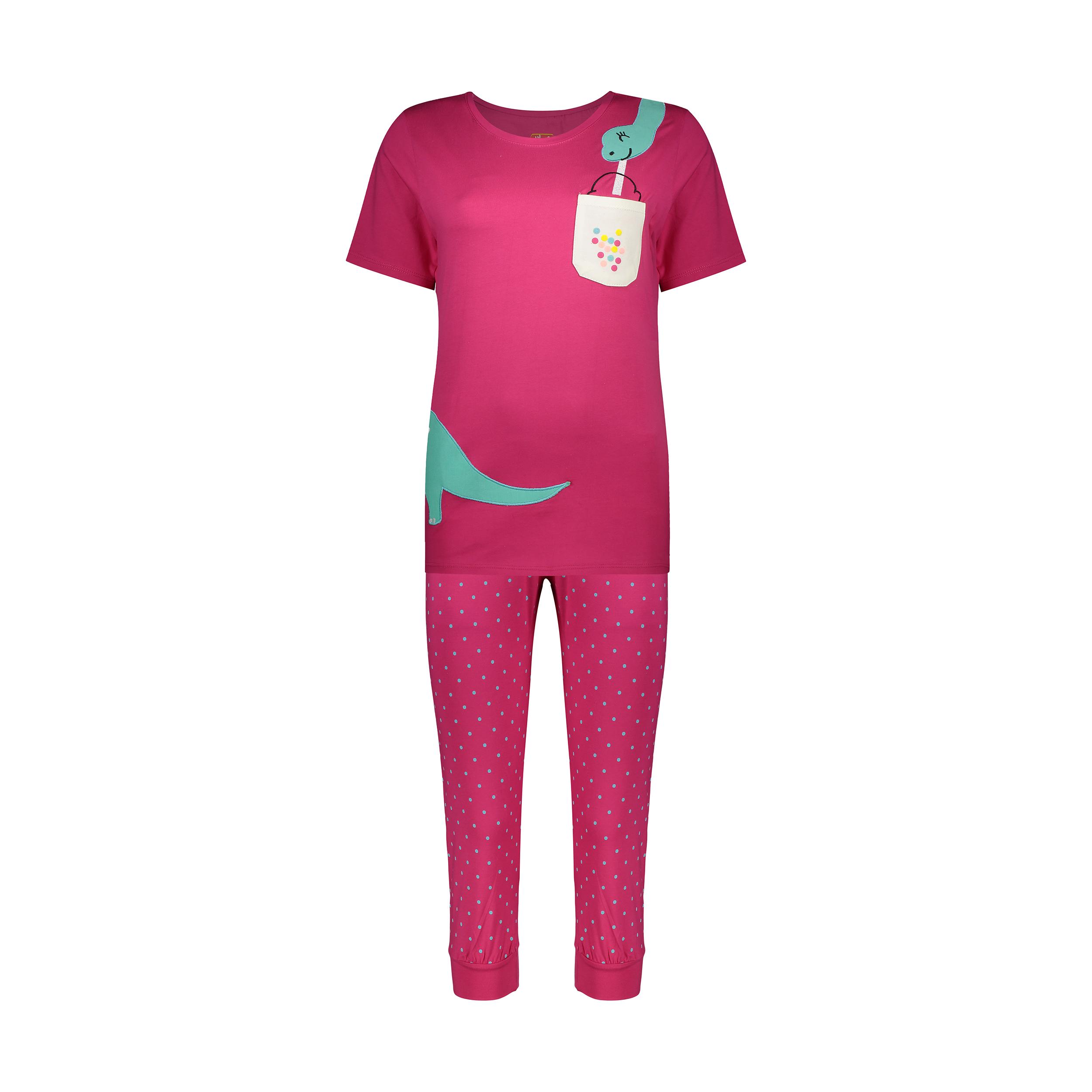 ست تی شرت و شلوارک راحتی زنانه مادر مدل 2041100-66 -  - 2