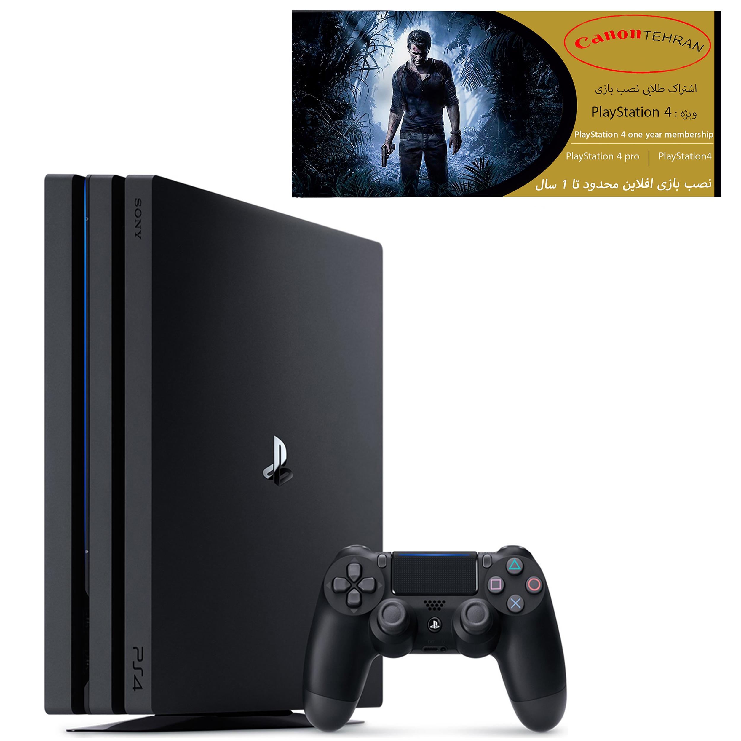 کنسول بازی سونی مدل Playstation 4 Pro ریجن 3 کد CUH-7218B ظرفیت 1 ترابایت به همراه 20 عدد بازی