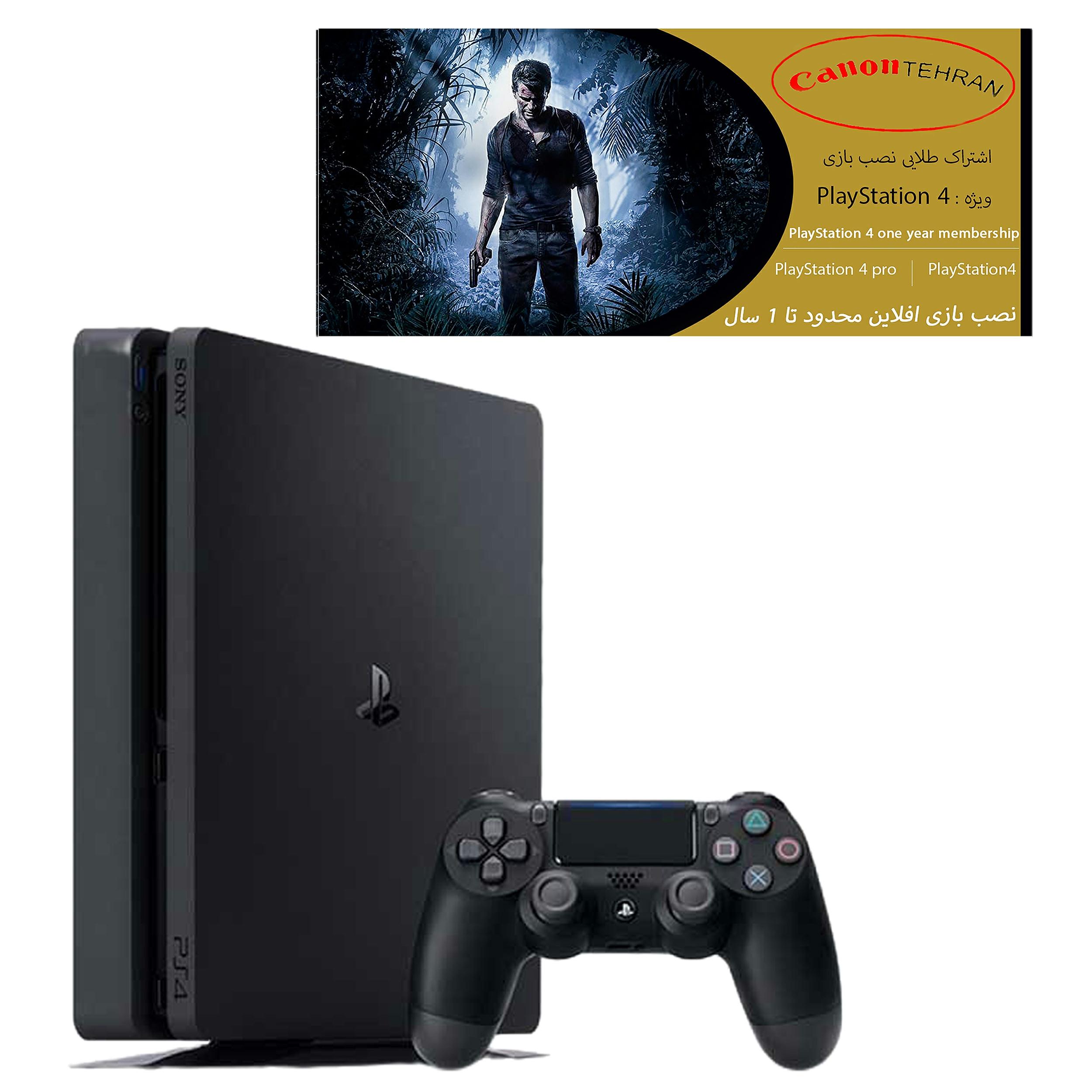 کنسول بازی سونی مدل Playstation 4 Slim ریجن 1 کد CUH-2215B ظرفیت 1 ترابایت به همراه 20 بازی