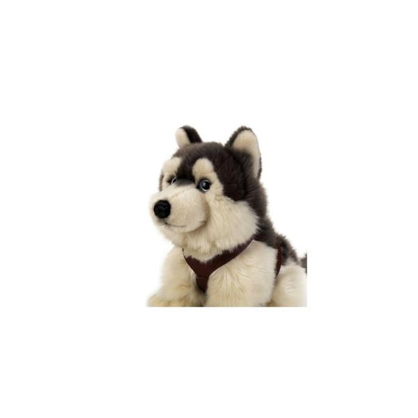 عروسک سگ هاسکی نشسته للی کد 742172 سایز 4