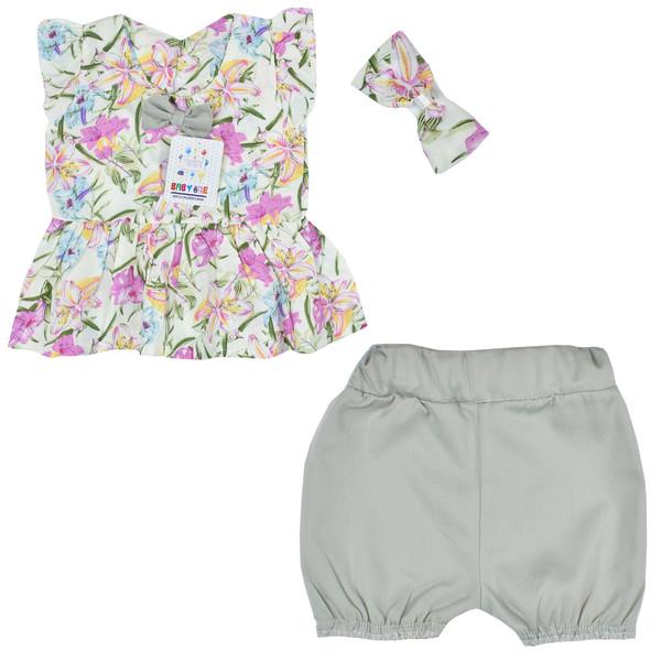 ست 3 تکه لباس نوزادی بی بی وان مدل هاوایی کد 1