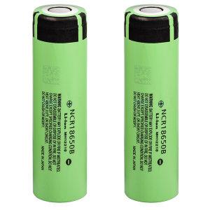 باتری لیتیوم یون قابل شارژ پاناسونیک مدل NCR 18650 B ظرفیت 3400 میلی آمپر ساعت مجموعه 2 عددی