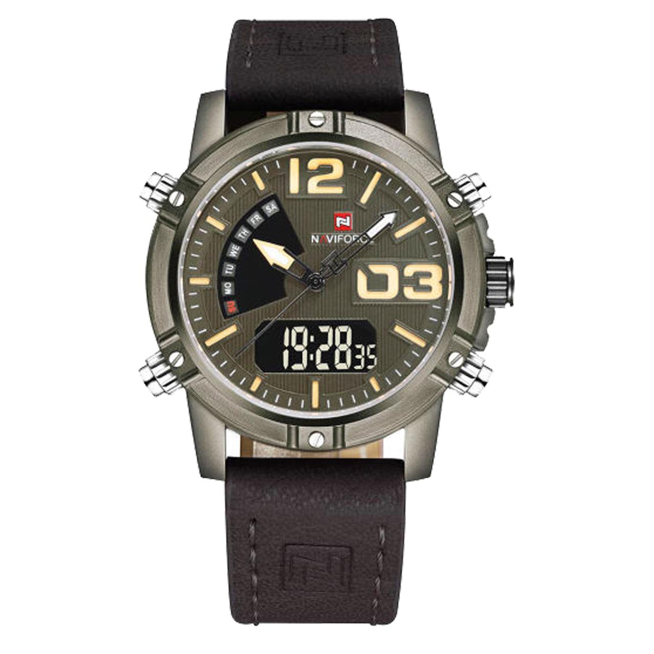 ساعت مچی عقربهای مردانه نیوی فورس مدل nf9095m