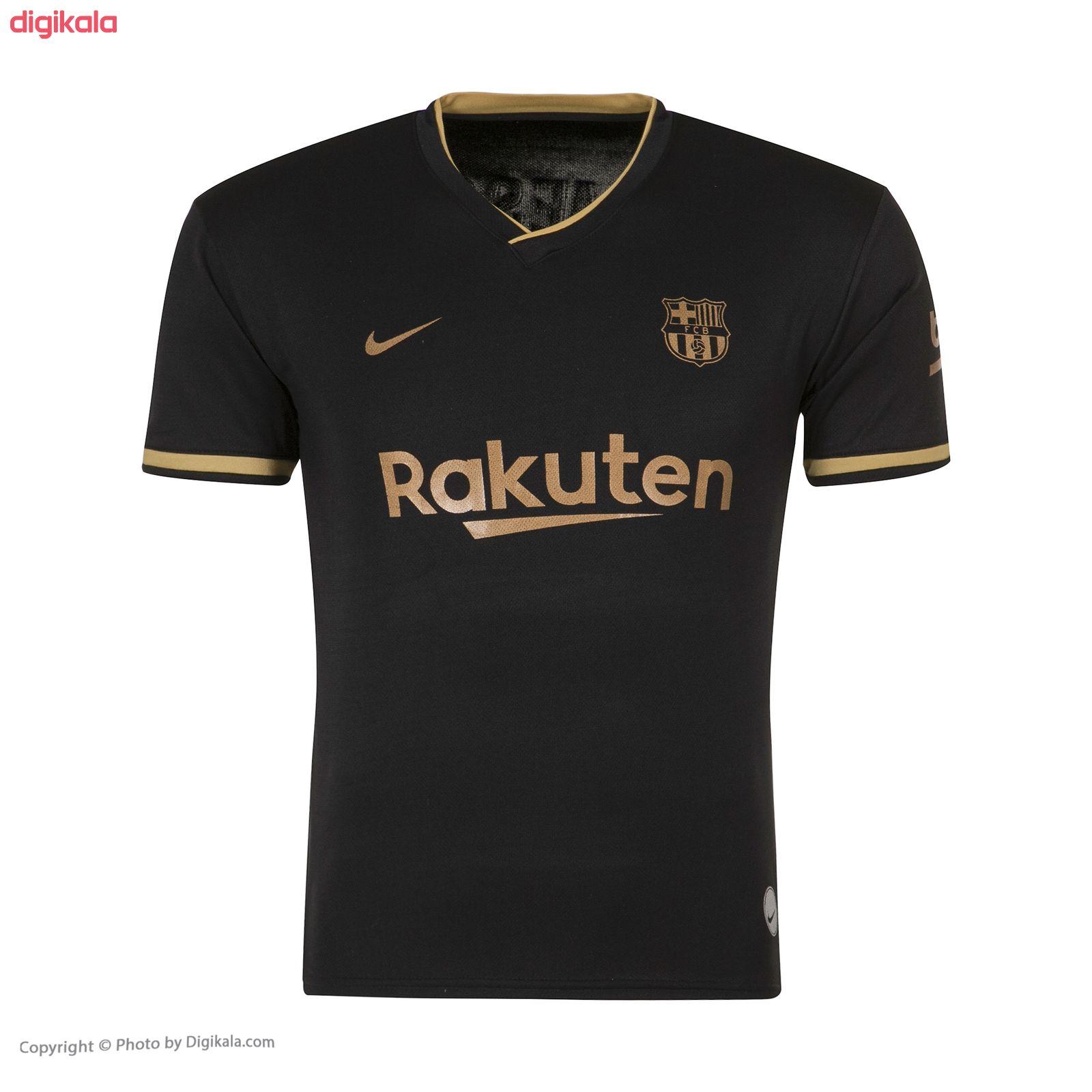 ست پیراهن و شورت ورزشی پسرانه طرح تیم بارسلونا دوم مدل مسی 2021 main 1 1